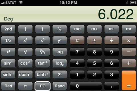 Entering scientific notation on a ti 83 or ti 84 calculator youtube.
