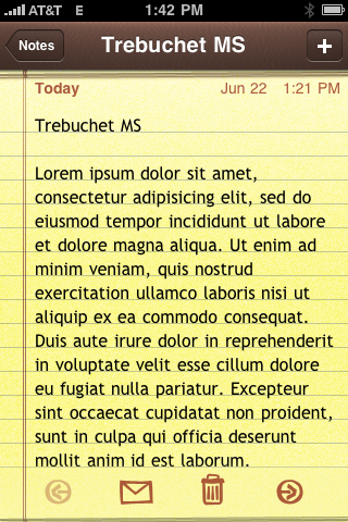 Making iPhone Notes look better - All this