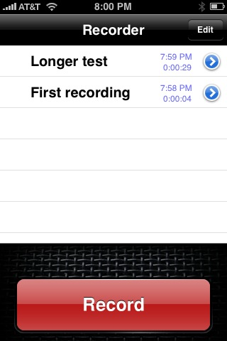 Two voice recording apps for the iPhone - All this