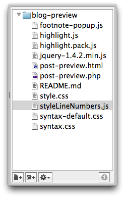 Increase the TextMate project drawer font size - All this