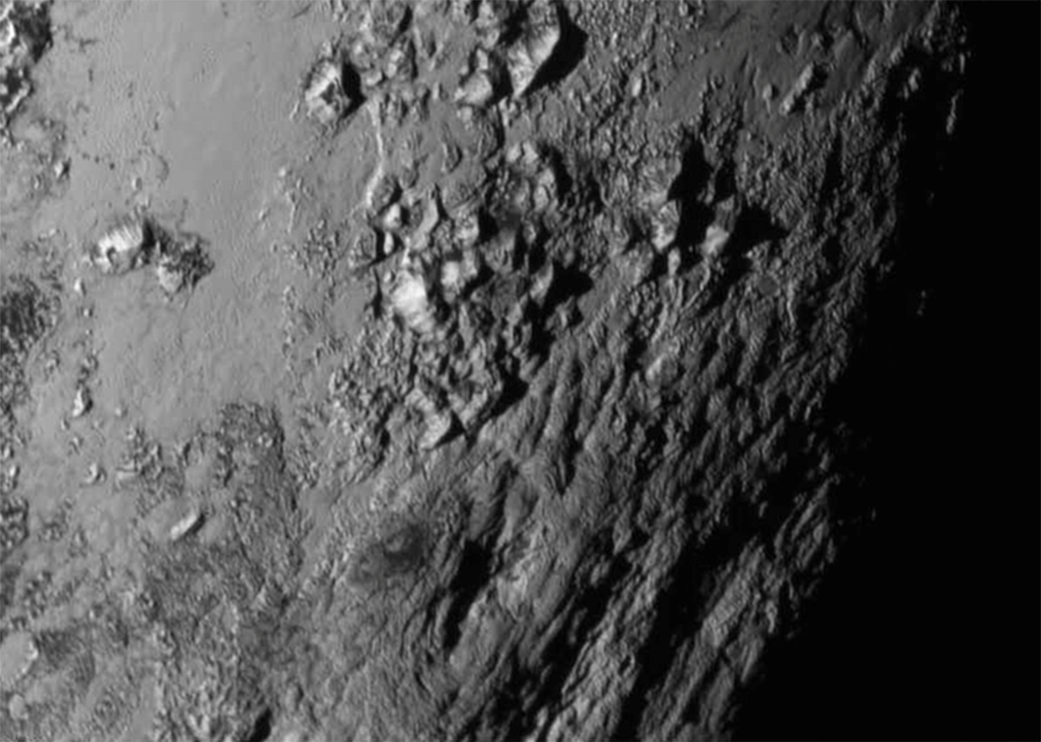 Pluto's mountains