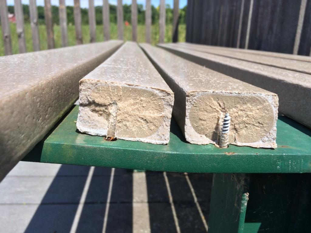 Broken seat slats