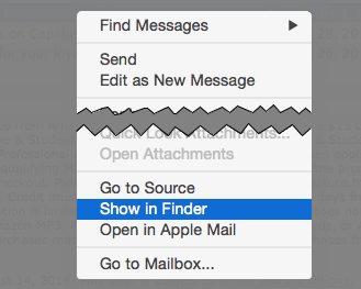 MailMate message menu
