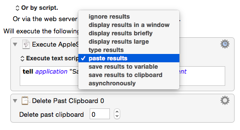 Keyboard Maestro insertion choice