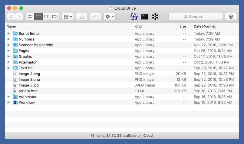 iCloud Drive folder on Mac