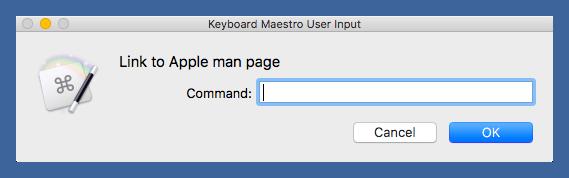 User input window