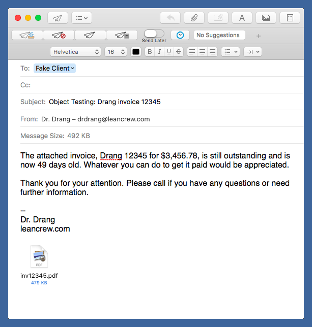 Dunning email