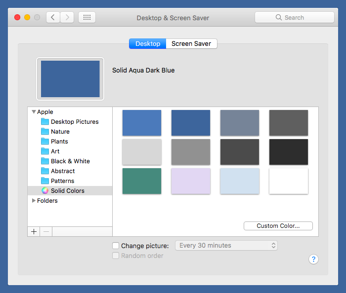 Desktop color chooser