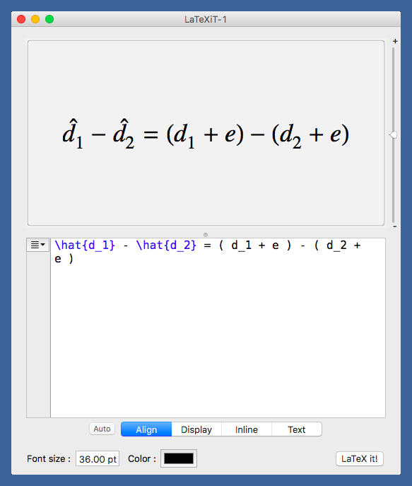LaTeXiT equation