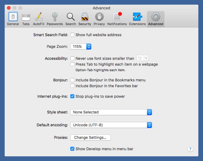 Safari page zoom