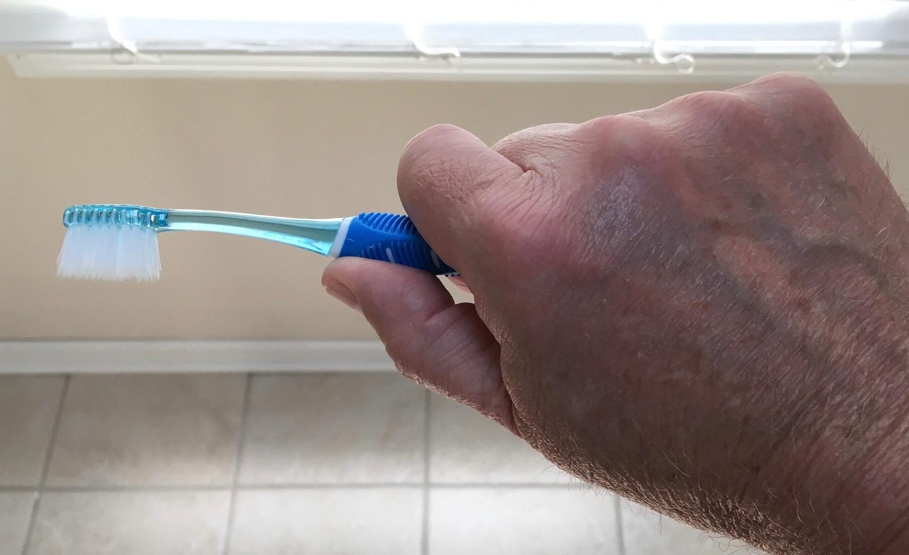 Toothbrush grip