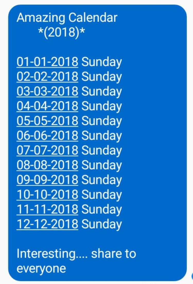 Amazing calendar