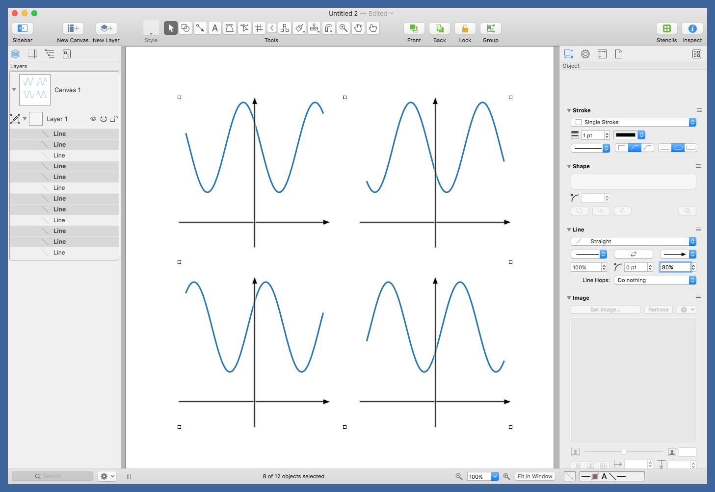 Editing graphs in OmniGraffle