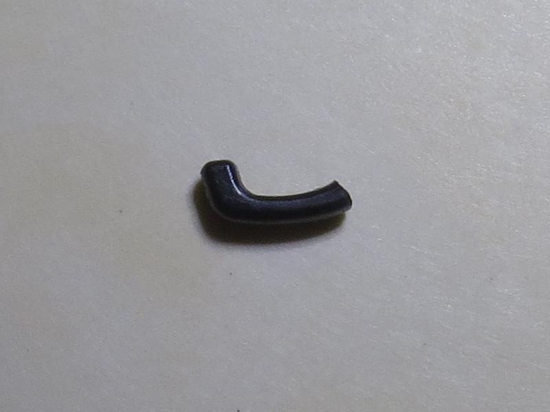 Broken hook from slider