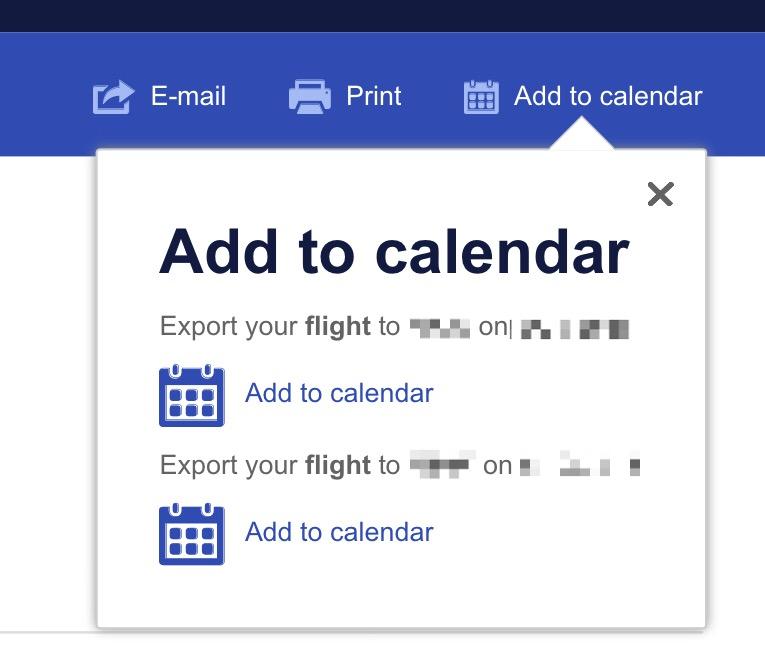 Southwest calendar links