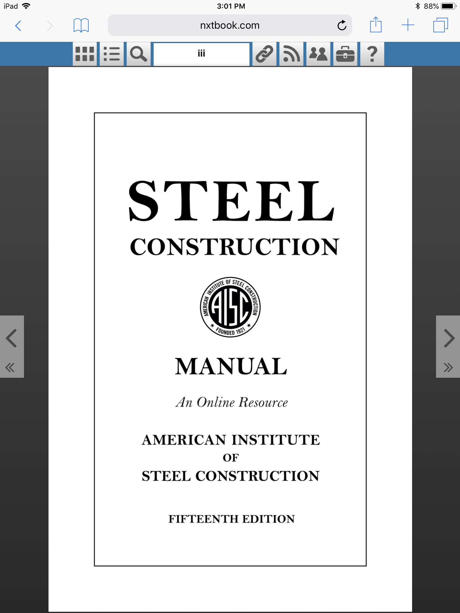AISC title page from website