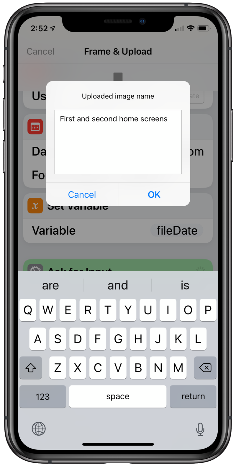 File name dialog