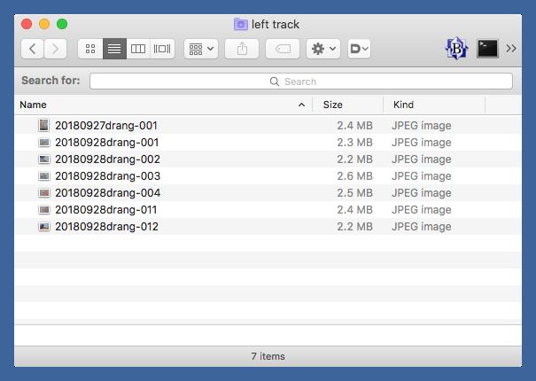Left track smart folder