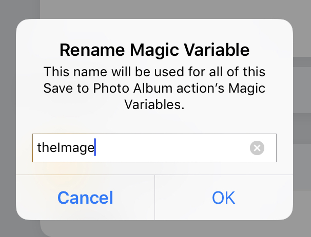 Rename magic variable