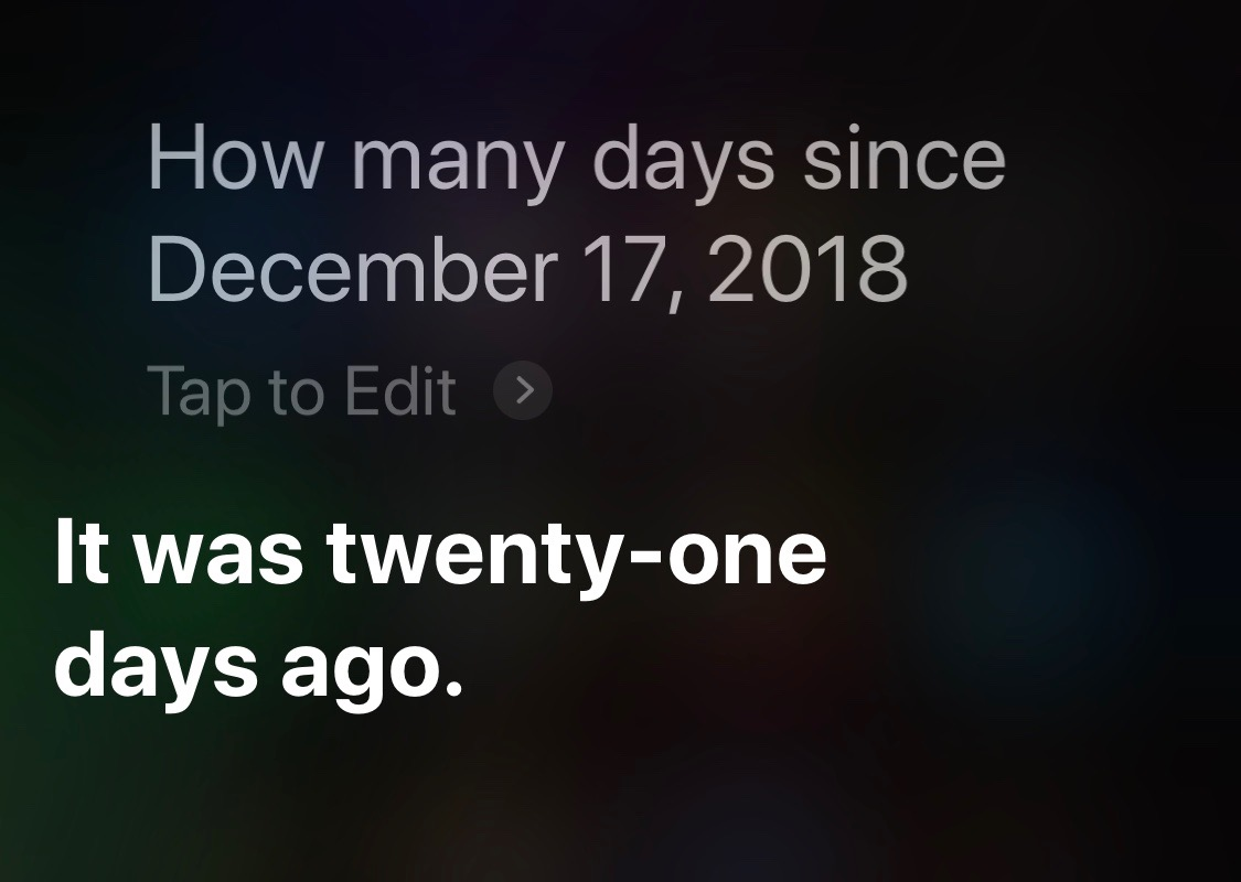 Siri days since full date