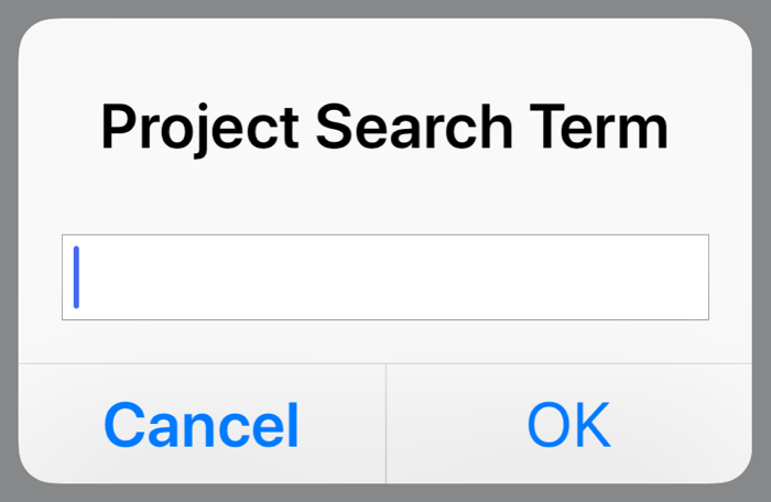 Search term dialog