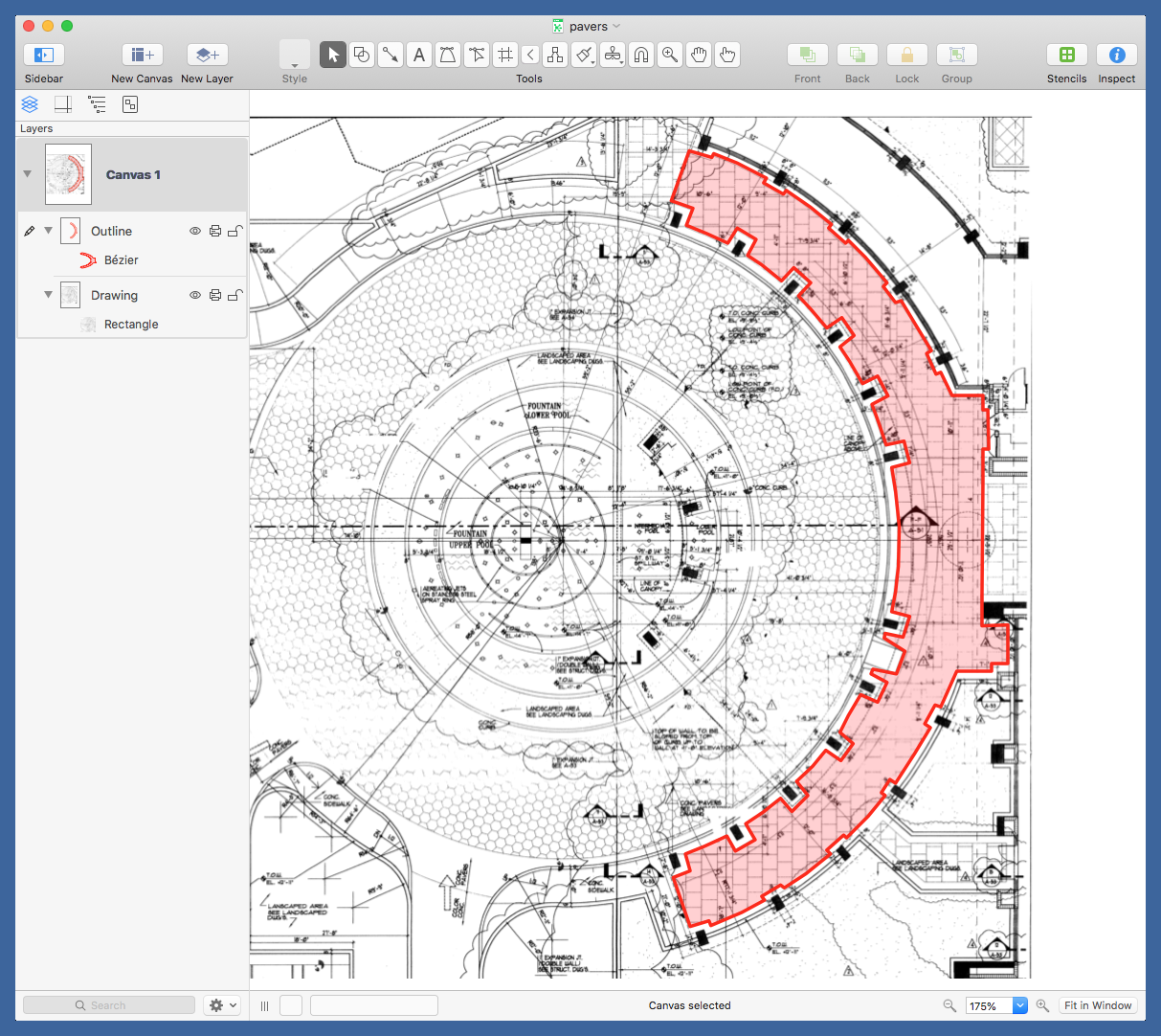Outline in OmniGraffle