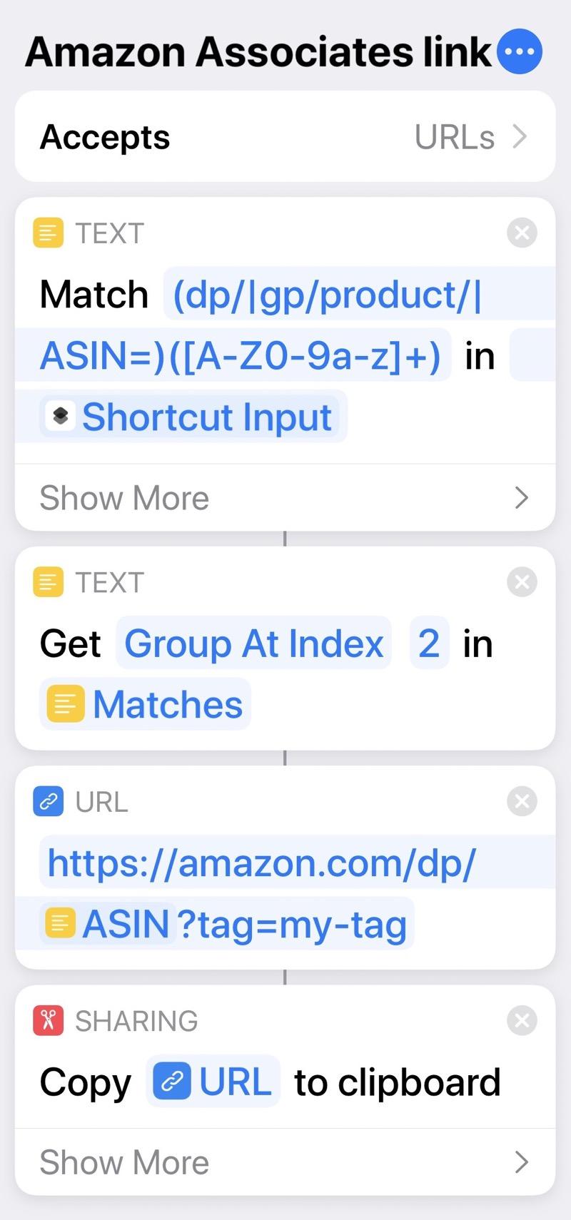 Amazon Associates shortcut