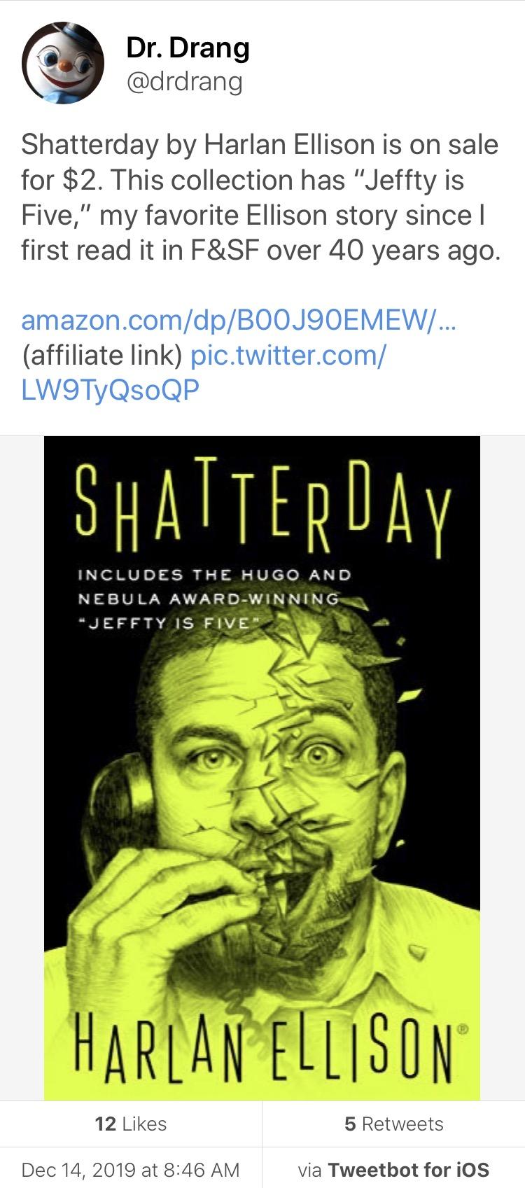Shatterday tweet