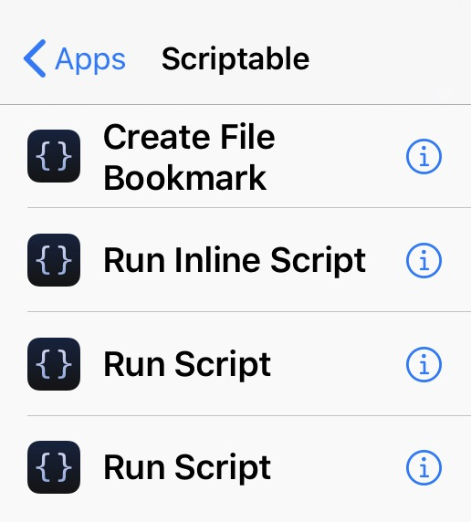 Scriptable actions for Shortcuts