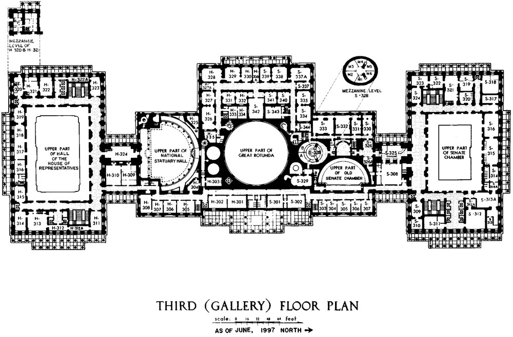 Third floor Capitol floor plan
