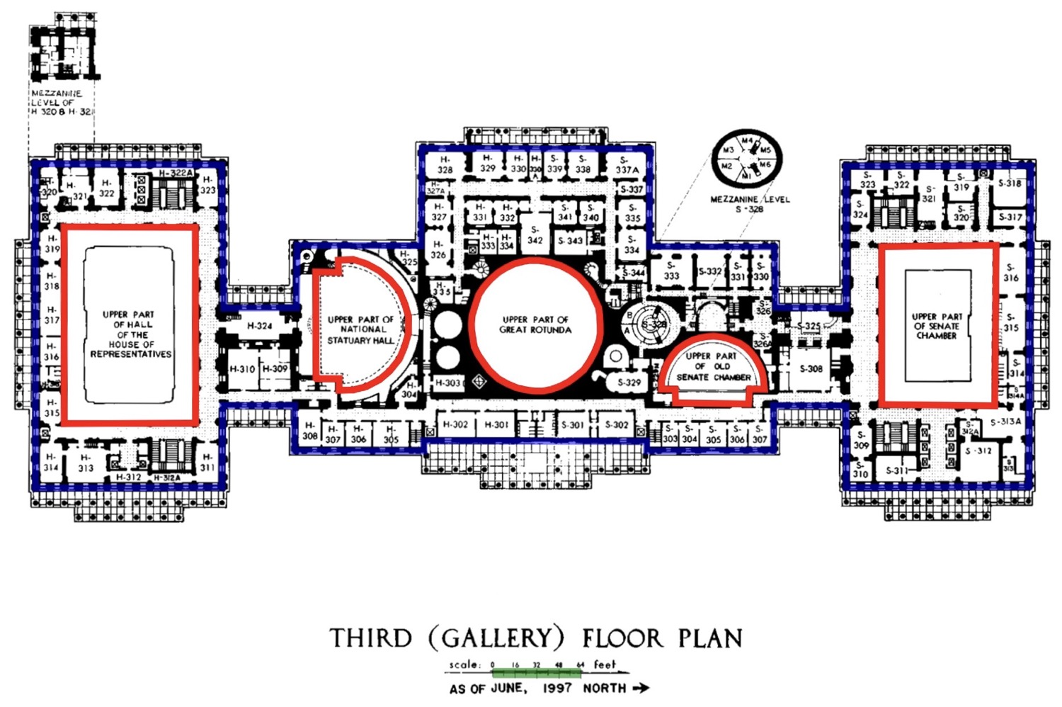 Annotated Capitol floor plan