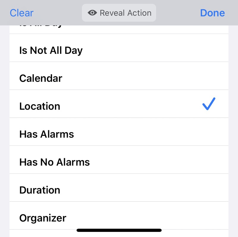 Select Location property from list