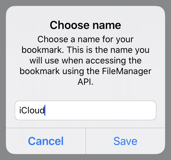 Bookmark naming