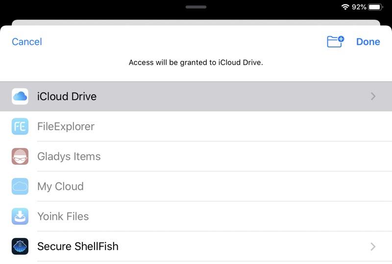 Choose folder from Files picker