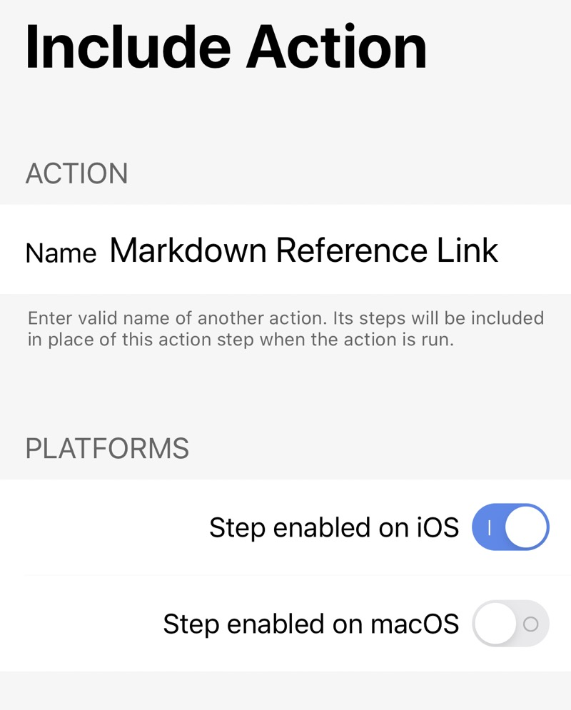 App Store Link Include Action step