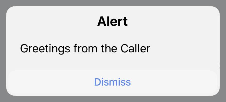 Caller Action alert