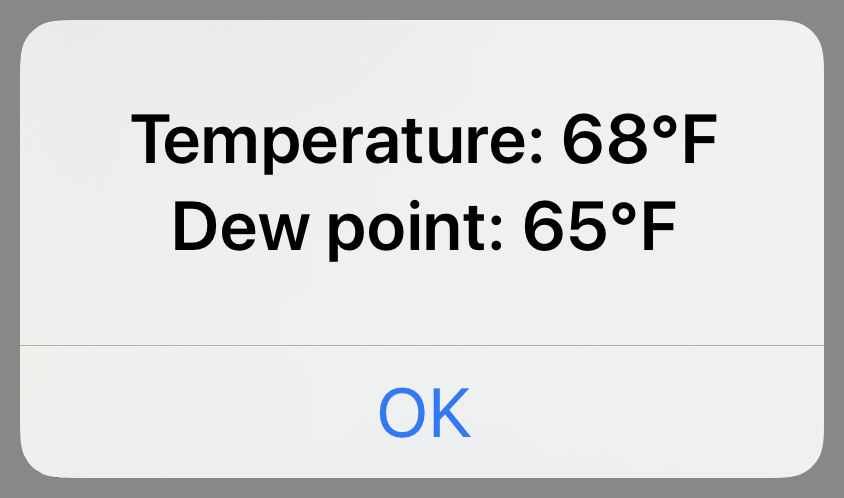Direct Dewpoint output