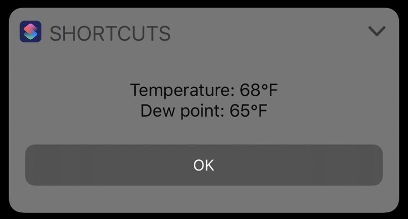 Widget Dewpoint output