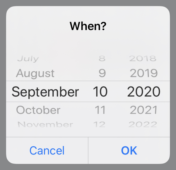 Date picker set to September 10