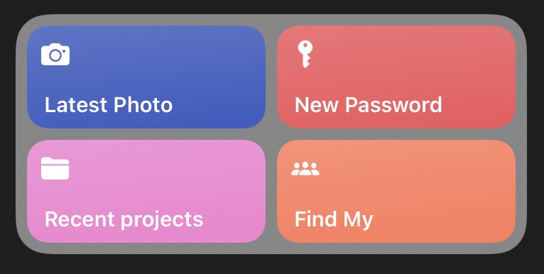 Shortcuts widget