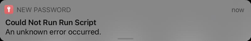 Error message for widget