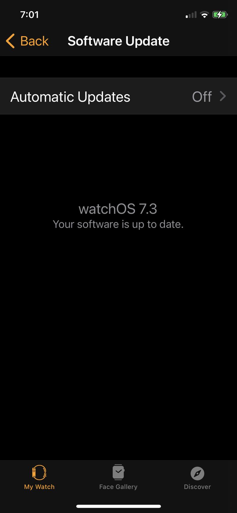 Watch update notice