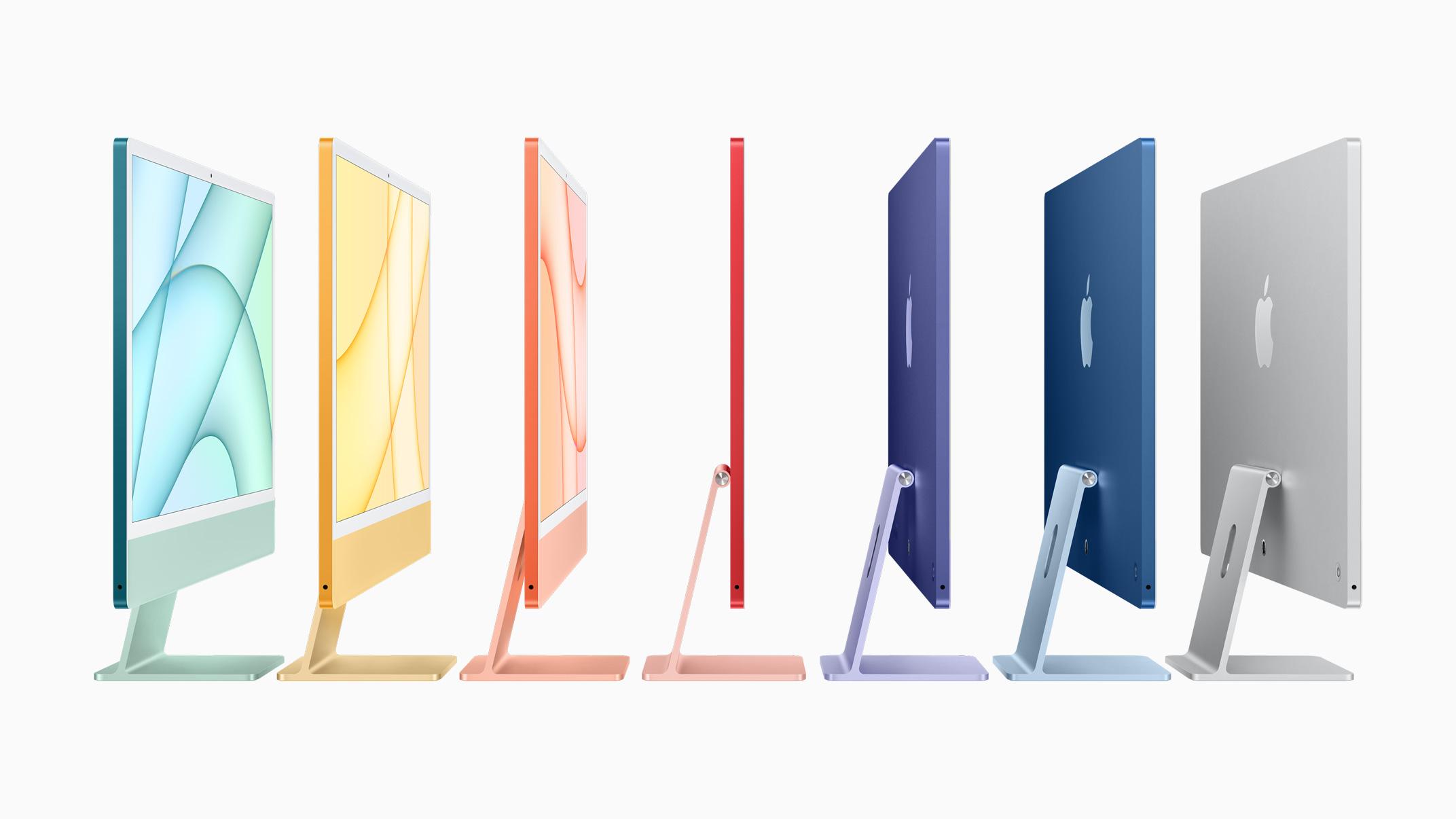 New color iMacs