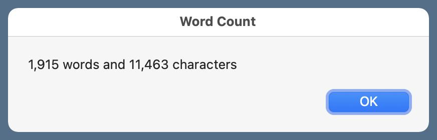 Word count window