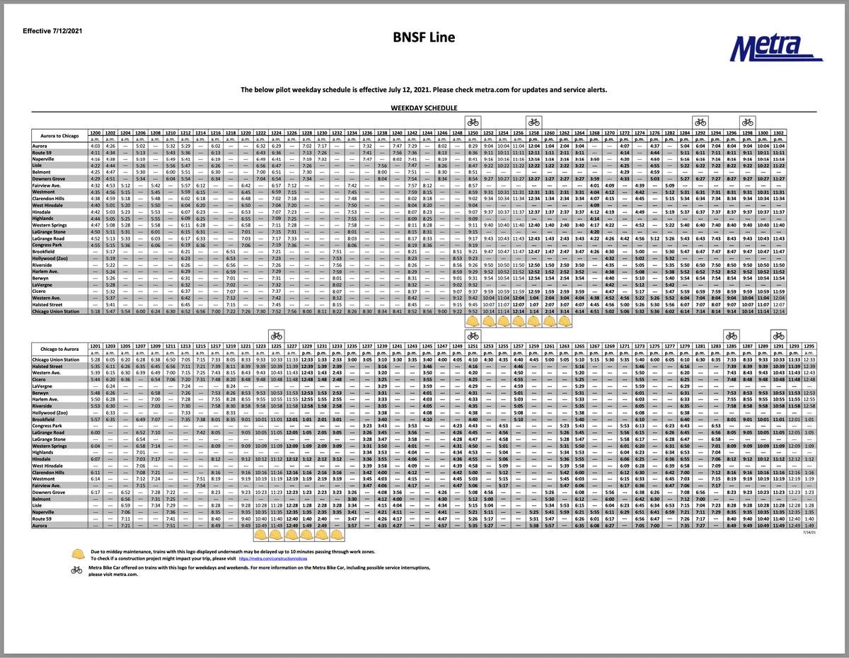 BNSF schedule PDF